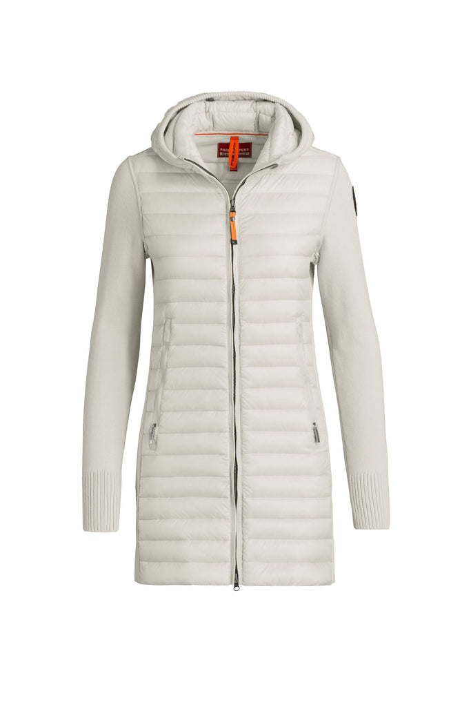 ... Parajumpers Women's Anuri Knit Down Jacket in Chalk ...