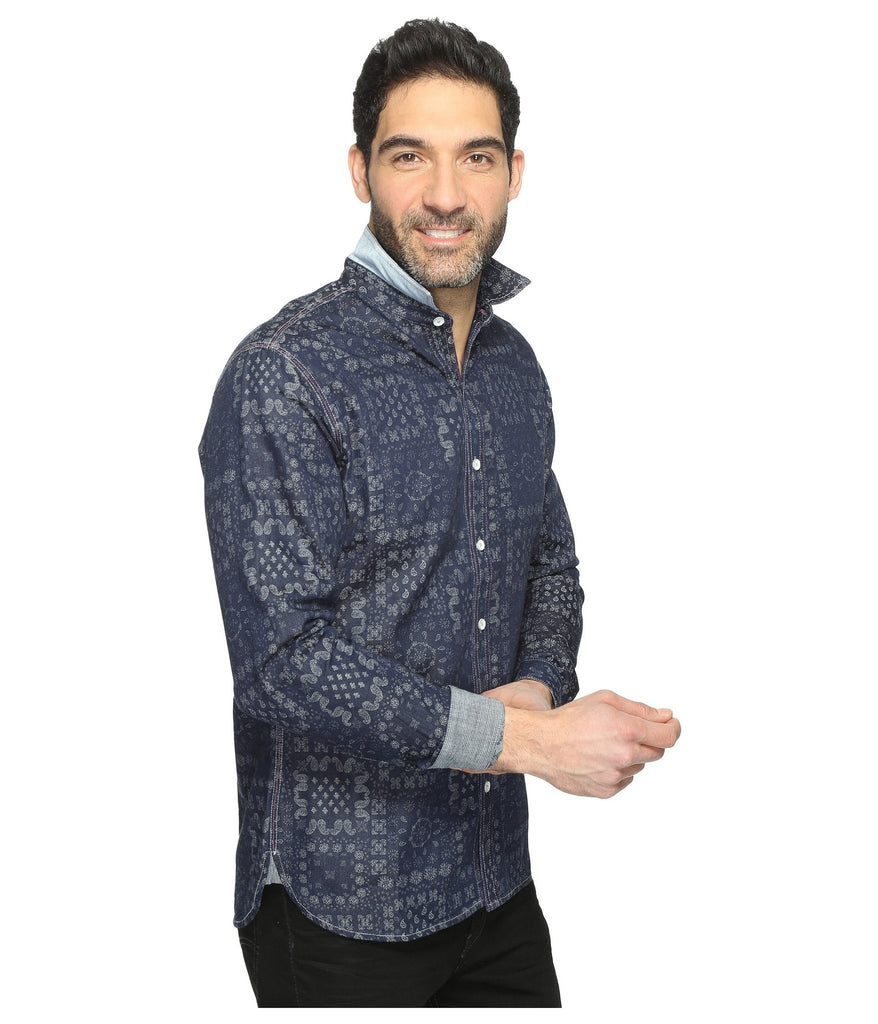 Mens Derby party shirt by robert graham