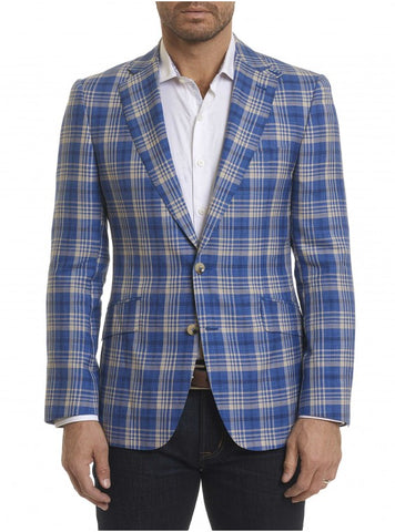 7 Downie Street Pisa Men's Blazer in Navy Windowpane