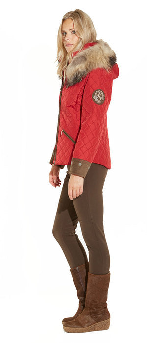 M. Miller Kristene Quilted Jacket With Natural Finn Racoon Microtech SK2224
