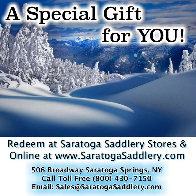 Holiday Saratoga Saddlery Gift Card