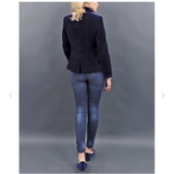 Von Dornberg Women's Lina Velvet Jacket in Midnight Navy