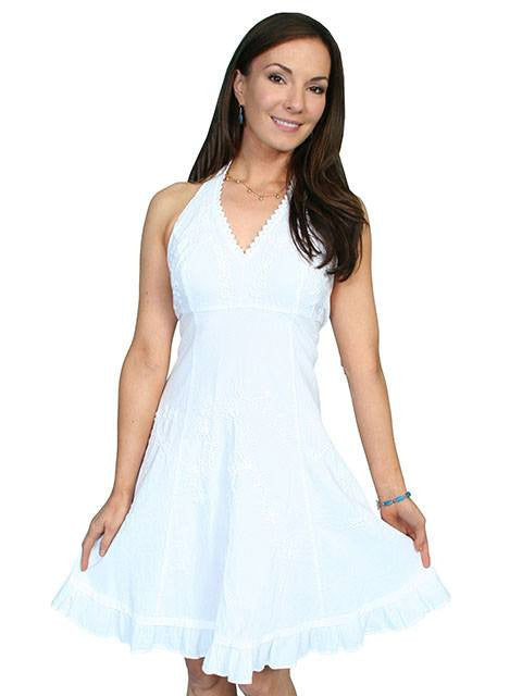 Scully Cantina Halter Dress in White
