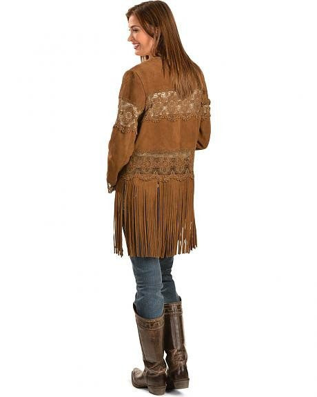 Scully L124 Women's Suede Coat with Long Fringe - Saratoga Saddlery