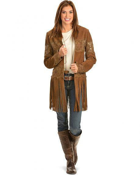 Scully L124 Women's Suede Coat with Long Fringe - Saratoga Saddlery & International Boutiques