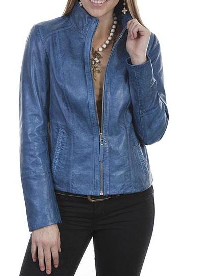 Scully Women's Zip Front Jacket in Denim L5 - Saratoga Saddlery & International Boutiques