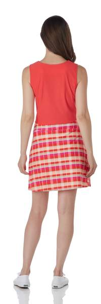 Jude Connally Sonia Skort Festival Plaid Coral SALE!