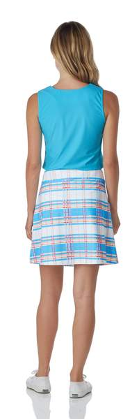 Jude Connally Sonia Summer Plaid Aqua - Saratoga Saddlery & International Boutiques