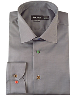 St. Croix Men's Button Down Shirt in Onyx