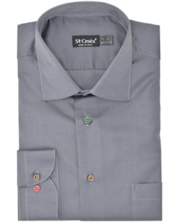St Croix Men's Button Down Shirt in Onyx