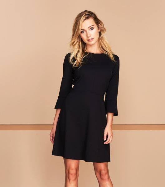 Jude Connally Talia Ponte Fit & Flare Dress in Black