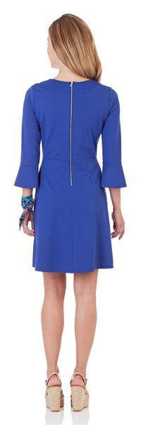 Jude Connally Talia Ponte Fit & Flare Dress in Royal Blue
