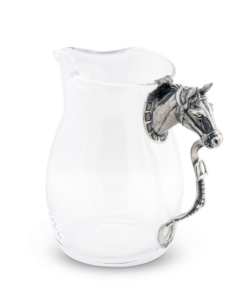 Thoroughbred Pitcher Glass ans Pewter Vagabond House Free shipping!
