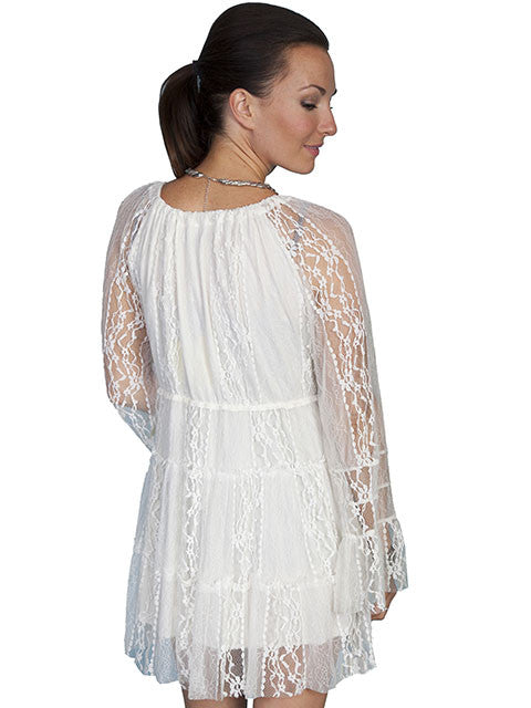 Scully Women's Lace Dress in Ivory - Saratoga Saddlery & International Boutiques