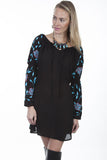Scully Women's Embroidered Dress Black