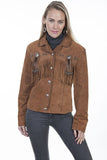 Scully Women's Boar Suede Fringe and Beaded Jacket - Cinnamon Boar Suede - Saratoga Saddlery & International Boutiques