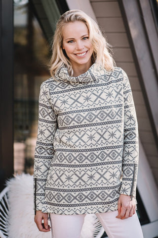 Icelandic Design Gardenia Half Zip Sweater