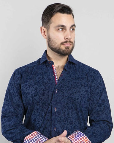 St Croix Men's Button Down Shirt in Sailboat Print
