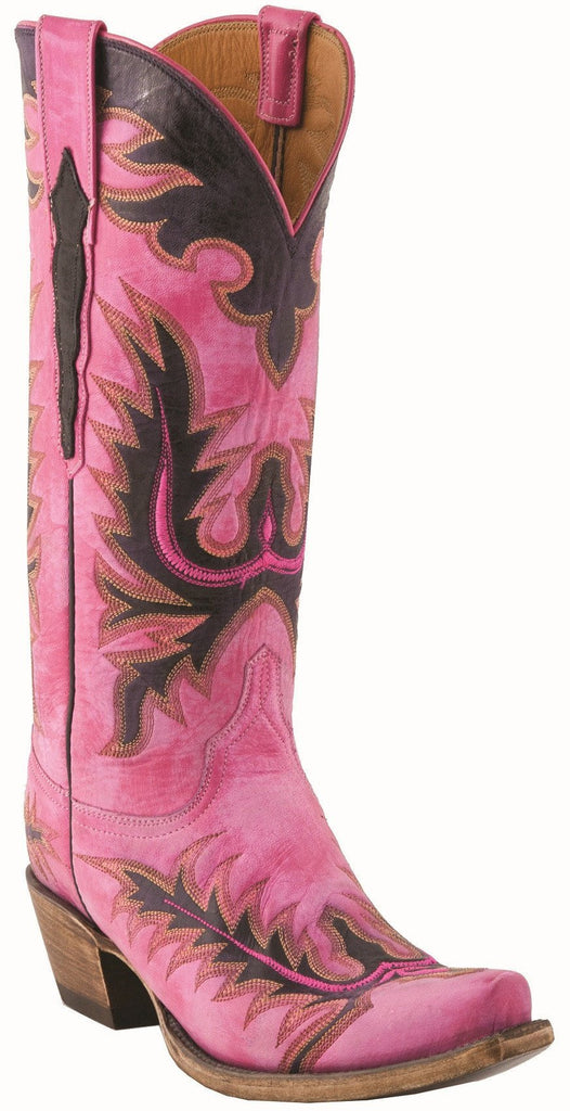Lucchese Womens Classic GC9206 Pink Cowboy boot - Saratoga Saddlery & International Boutiques