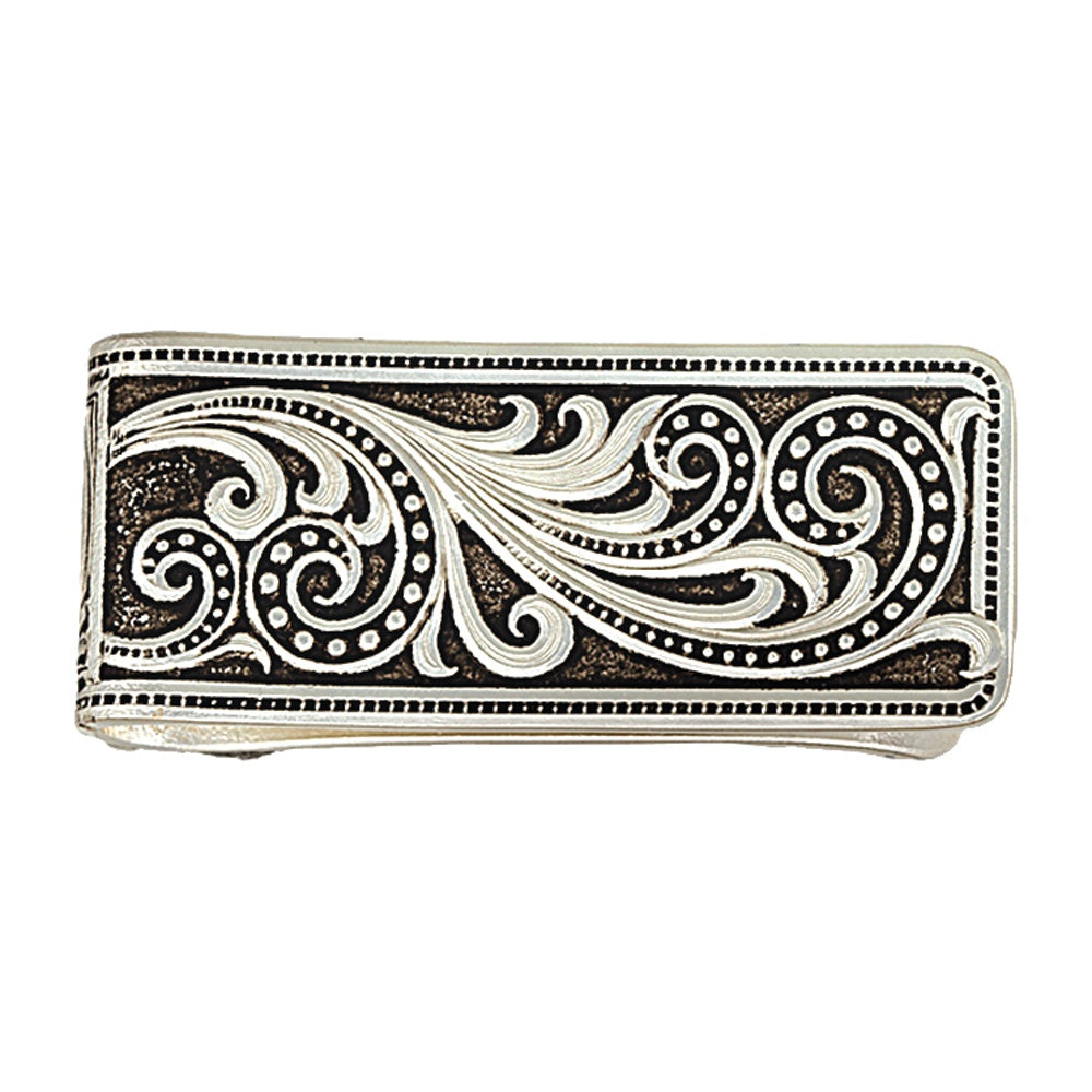 Montana Silversmiths Silver Beaded Scroll Money Clip MCL16RTS