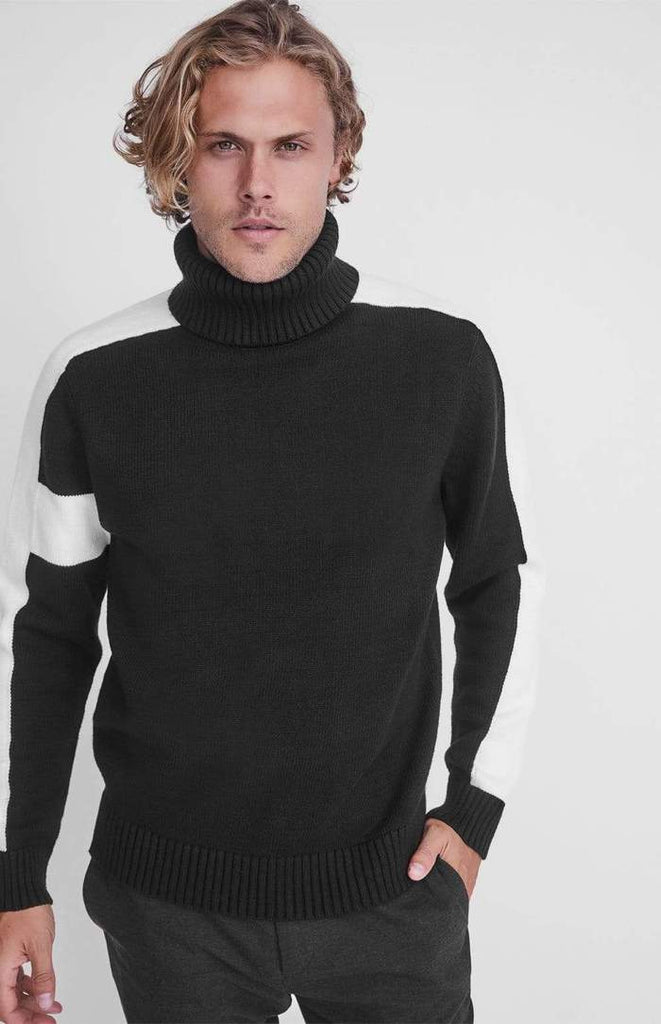 Alp N Rock Men's and Ladies Ski Knit Killian Sweater IN BLACK - Saratoga Saddlery & International Boutiques