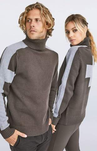 Alp N Rock UNISEX Killian Soft Knit Sweater in BARK - Saratoga Saddlery & International Boutiques