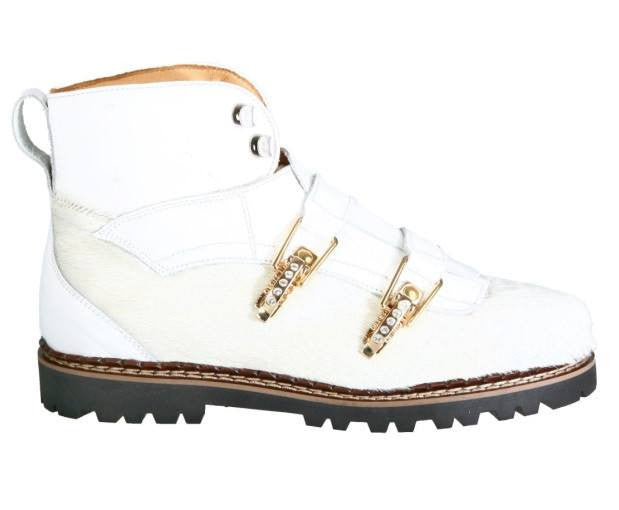 Ammann Apres Sky boot White hiking boot Fashion Alpine boot - Saratoga Saddlery