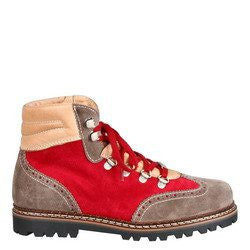 Ammann Valbella Shoe in Grey and Red Suede - Saratoga Saddlery