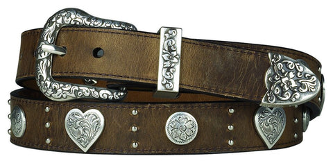 Clever with Leather Hoofprint Belt - Medium Brown