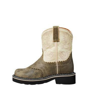 Ariat Kid's Fatbaby Boots Bwn Bomber - Saratoga Saddlery
