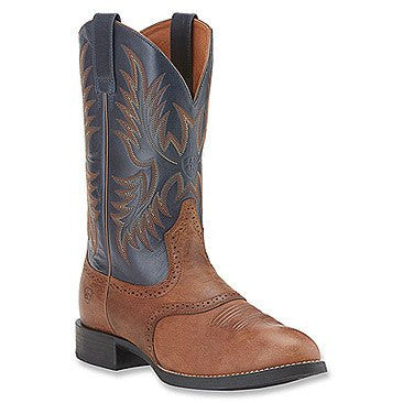 Ariat Men's Heritage Stockman Boot Sandstorm/Arizona Sky - Saratoga Saddlery