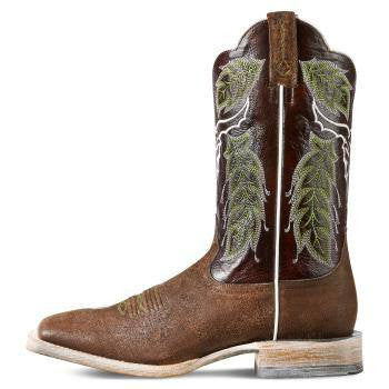 Ariat Men's Outlaw Boots in Chico Brown - Saratoga Saddlery