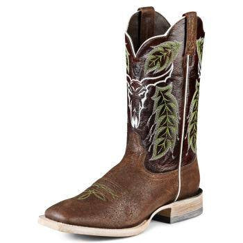 Lucchese Men's Classic L1358 Hand Tooled Barbwire Boot