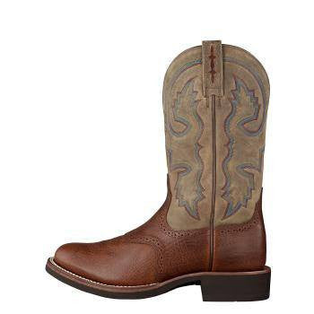 Ariat Men's Quantum Crepe Boots in Red Oak Shoulder - Saratoga Saddlery