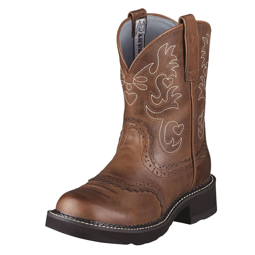 Ariat Women's Fatbaby Saddle Boot Russet Rebel - Saratoga Saddlery