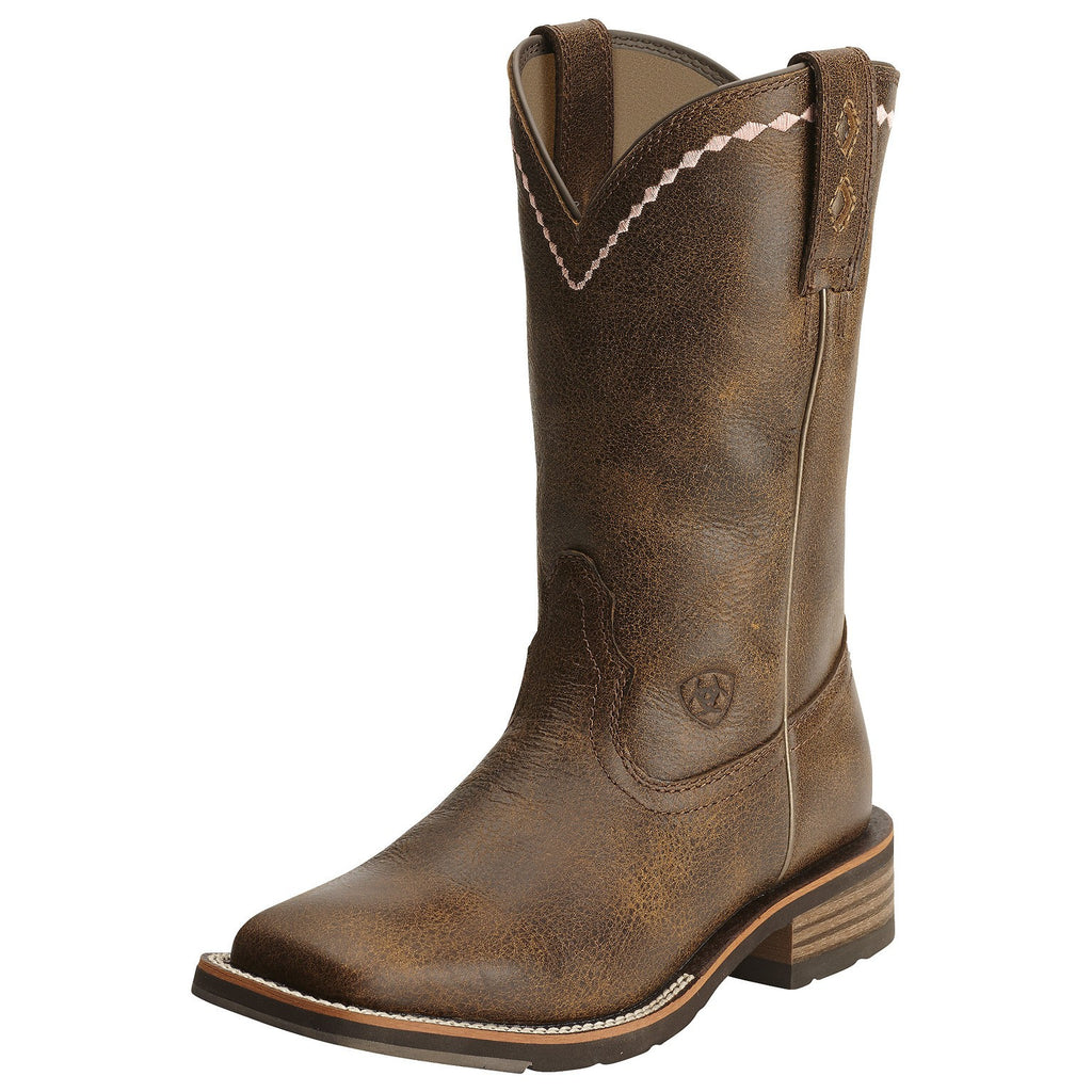 Ariat Women's Unbridled Roper Boot Distressed Brown - Saratoga Saddlery
