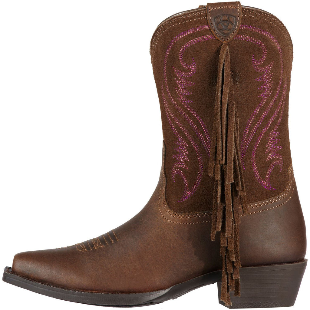 Ariat Youth Fancy Boot in Distressed Brown - Saratoga Saddlery