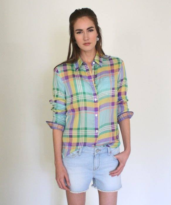Arnold Zimberg Big Plaid Cotton Shirt - Saratoga Saddlery