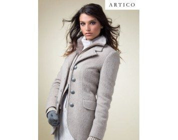 Artico Leather and Shearling Motto Jacket. Made in Italy.