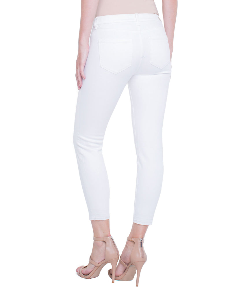 Liverpool Avery Destruct Crop in Atrium White LM2106WC - Saratoga Saddlery & International Boutiques