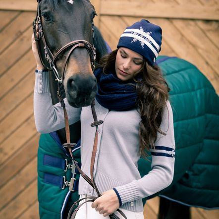 B Vertigo Annie Knitted Sweater in Grey - ON SALE! - Saratoga Saddlery & International Boutiques