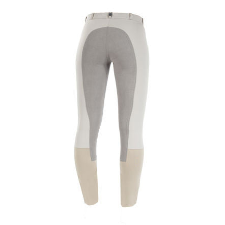B Vertigo Lauren Full Seat Breeches in Dove Grey - Saratoga Saddlery & International Boutiques