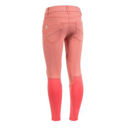 B Vertigo Oliva Fancy Girl's Breeches in Deep Coral Pink - Saratoga Saddlery & International Boutiques