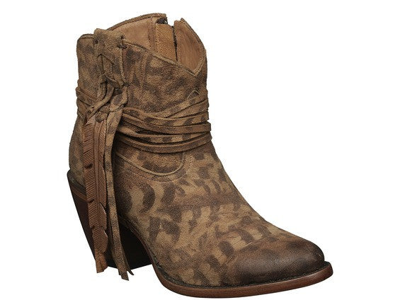 Lucchese Women's Robyn Western Shortie Boot M6002 - Tan