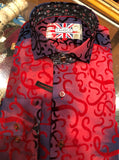 Fun Red Mens Dress Shirt