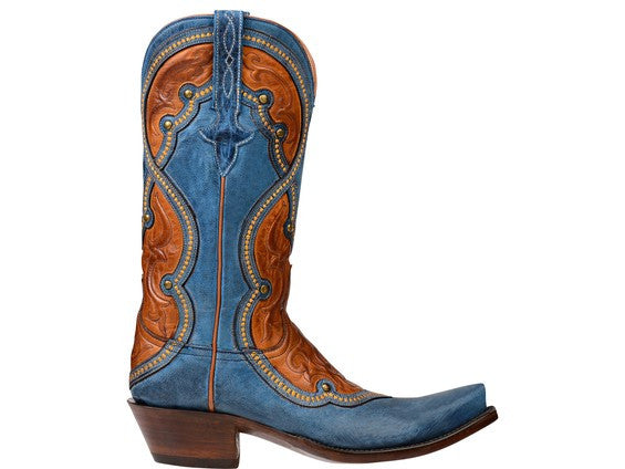 Blue cowboy boot Lucchese