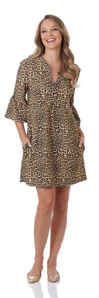Jude Connally Kerry Dress  Jude Cloth - Mini Leopard Animal Print