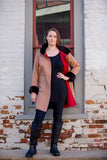 Bergen of Norway Kari - Red Cashmere Mink Coat - Saratoga Saddlery & International Boutiques