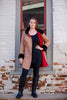 Bergen of Norway Kari Coat- Red Cashmere Mink Coat Loro Piana Cashmere