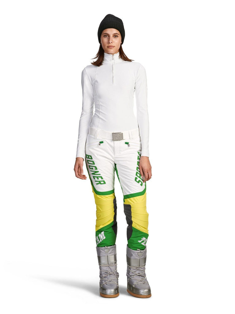 Bogner Women's Torine Team Ski Pant, Green/White 55% OFF ON SALE ! - Saratoga Saddlery & International Boutiques